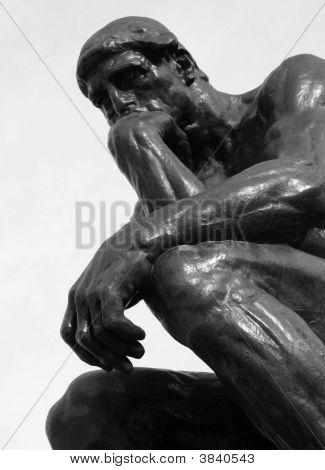 Rodin\'S Thinker Bw