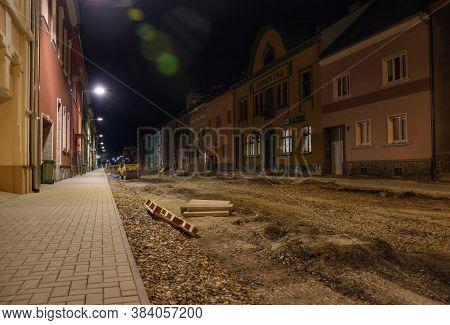 Chomutov, Czech Republic - August 11, 2020: Legendary Restaurant Kozlovna In Husova Street During Re