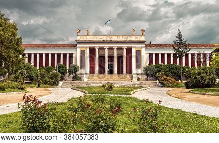 Athens - May 7, 2018: National Archaeological Museum Of Athens, Greece. It Is One Of Main Historical