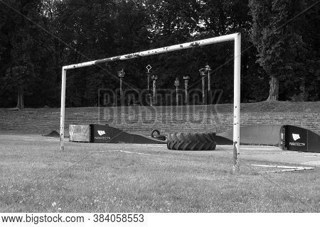 Chomutov, Czech Republic - August 19, 2020: Old Playground