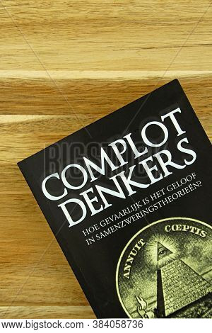 Amsterdam, The Netherlands - September 6, 2020: Part Of A Dutch Book Cover 'complot Denkers' (englis
