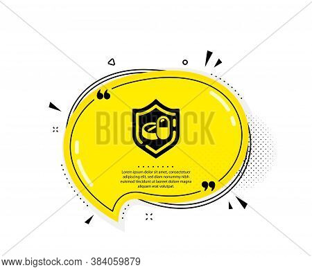 Medical Tablet Icon. Quote Speech Bubble. Medicine Drugs Sign. Pharmacy Medication Symbol. Quotation