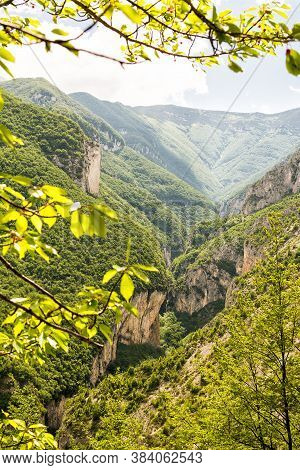 One Of The Impassable Gorges Of The Majella That From Pennapiedimonte Climbs Up To The Block Haus
