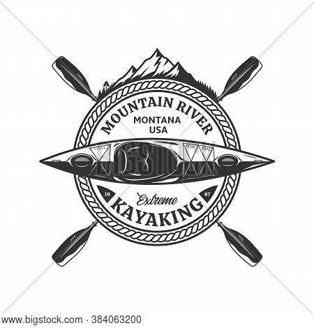 Vector Kayaking Badge