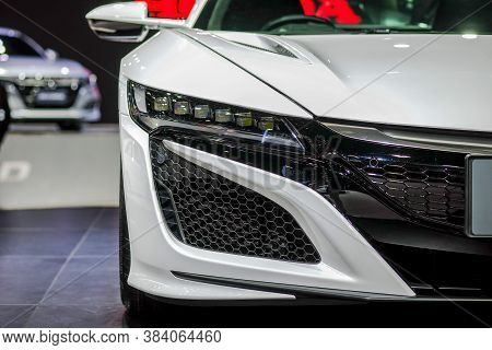 Nonthaburi-thailand 28 Nov 2018: Headlight Of Honda Nsx On Display At The 35th Thailand Internationa