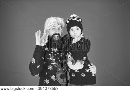 Best Wishes From Us With Daddy. Family Celebrate Holiday. Family Tradition. Winter Holidays. Merry C