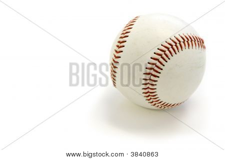 White Baseball-Clipping Path