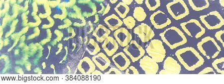 Spotted Animal. Psychedelic Trendy Leopard Print. Cosmos Illustration Brush Animal. Vivid Camo Fabri