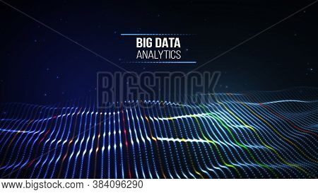 Black Data Technology Background. Business Computer Internet Concept. Big Data Network Illustration.