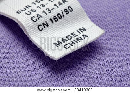 Clothing Label Made In China Cheap