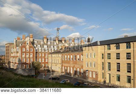 York,yorkshire, England- August 17,/2014: Buildings Near The