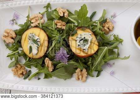 Blue Cheese And Peach Salad