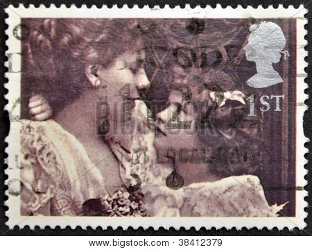 UNITED KINGDOM - CIRCA 1995: A stamp printed in Great Britain shows 'Alice Keppel with her Daughter'