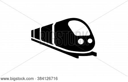 Train Icon. Trip Way. Journey Concept. Vector On Isolated White Background. Eps 10