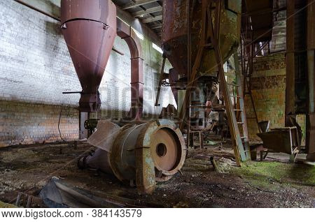 Abandoned Compound Feed Plant Near Resettled Village Of Dronki In Exclusion Zone Of Chernobyl Nuclea