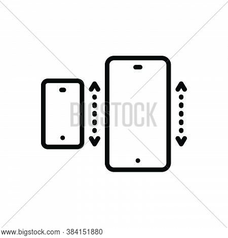 Black Line Icon For Specifically Especially Exclusively Mainly Mobile Cellphone Technology Electroni