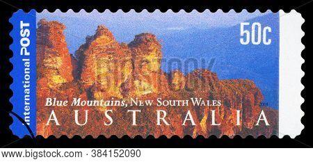 Australia - Circa 2001: A Stamp From Australia Shows Image Of The Blue Mountains, Nsw, Australia , C