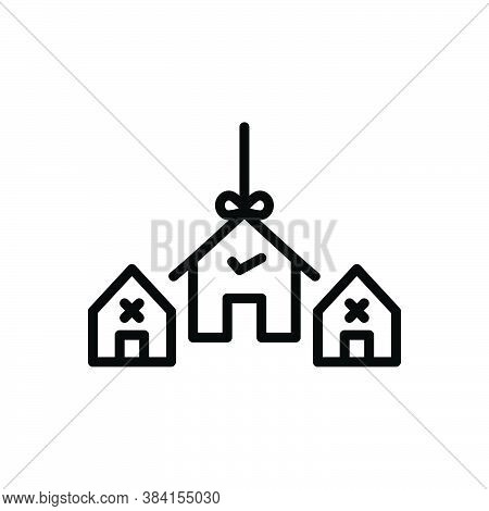 Black Line Icon For Choice Preference Decision House Mortgage Option Home Variety Decision-making Se