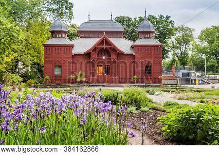 Zagreb, Croatia - May, 07, 2017: Exhibition Pavilion Of The Botanical Garden In Zagreb, Croatia