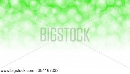 Abstract Bokeh Light Green For Background, Blurred Bokeh Bright Green Beautiful With Shiny Light