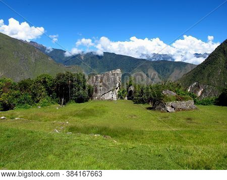Machu Picchu Is Capital Of The Inca Empire In The Andes Mountains, Peru, South America