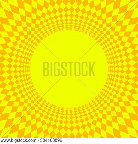 Geometric Art Abstract Yellow For Background, Art Line Yellow Spiral Optical For Hypnotic Wallpaper
