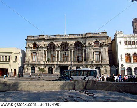 Lima / Peru - 30 Apr 2011: The Vintage Palace On Plaza De Armas, Plaza Mayor, Lima City, Peru, South