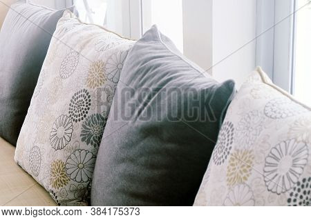 Image Of Cushion On Sofa, Living Room Detail