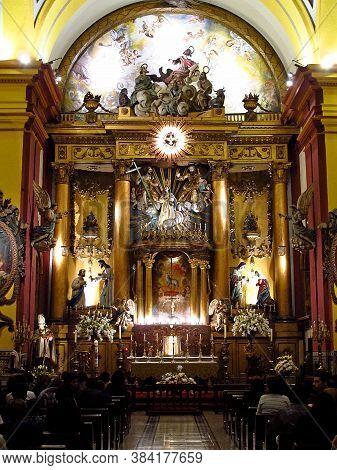 Lima / Peru - 03 May 2011: Basilica Y Monasterio De Santo Domingo, The Church In Lima City, Peru