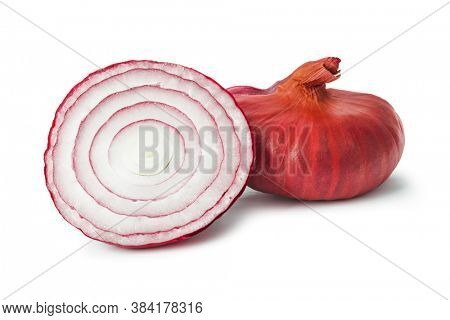 Red onion (shallot) isolated on white background