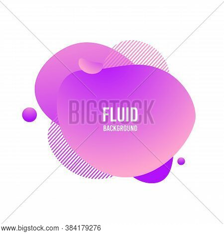 Fluid Blod Shape. Abstract Modern Graphic Element. Memphis Liquid Gradient Splash. Vivid Gradient Te