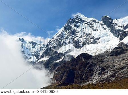 Salkantay Or Salcantay Trek In The Way To Machu Picchu, Cuzco Area In Peru