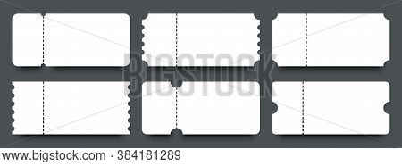 Tickets. Coupons. Blank Templates Tickets Or Coupons With Bar Codes. Ticket Or Coupon Vector Icon, I