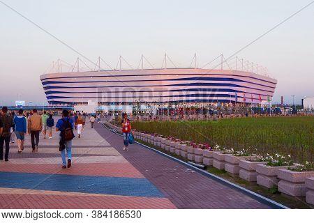 Kaliningrad, Russia - June 16, 2018: View Of The Modern Kaliningrad Football Stadium (also Called Ar