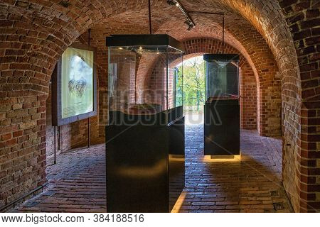 Gdansk, Poland - May 14, 2017: Interior Of The Open Museum In The Historical Fortifications On The G