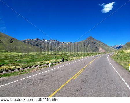 Road In Andes, Altiplano, Peru