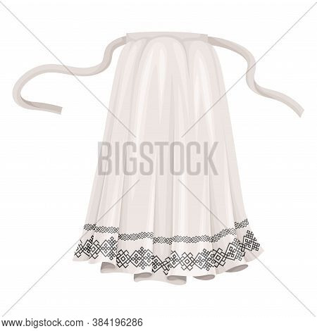 Norwegian Cover Slut Or Apron As Traditional Clothing Vector Illustration