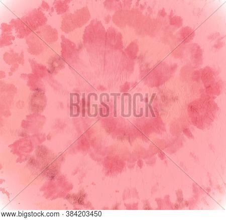 Hippie Multi Style. Color Pattern For Cloth Print. Circle Shirt. Red Tie Dye Swirl. Tye Dye Art Desi