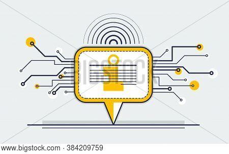 Communication Technology Vector Concept, Speech Bubble Reply.