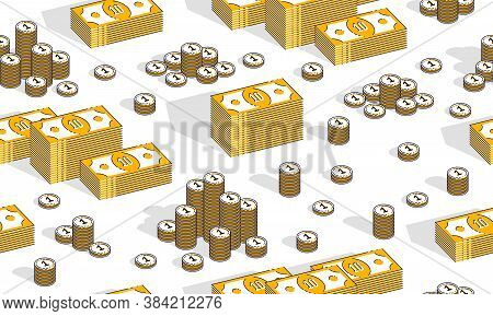 Money Cash Seamless Background, Dollar Currency Money Signs, Backdrop For Financial Business Website