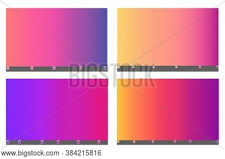 Abstract Blurred Gradient Mesh Background In Bright Colorful Smooth. Vector Illustration With Bright