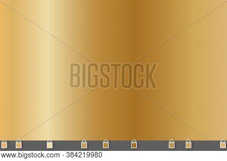Light, Realistic, Elegant, Shiny, Metallic And Gold Gradient Vector Illustration. Shiny Golden Metal