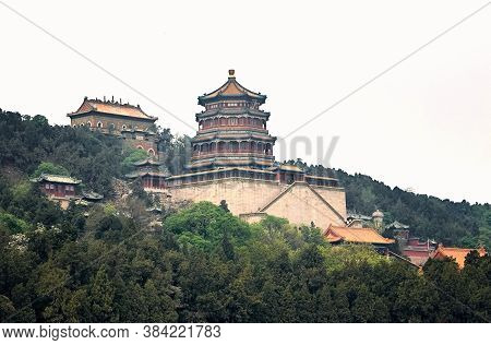 Imperial Summer Palace. Tower Of The Fragrance Of The Buddha. Beijing, China