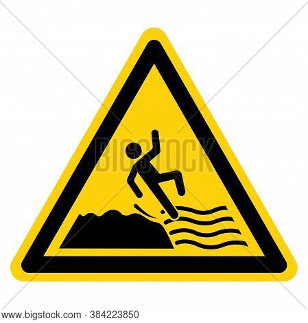 Warning Keep Off Slippery Rock Cause Fails Symbol Sign, Vector Illustration, Isolate On White Backgr