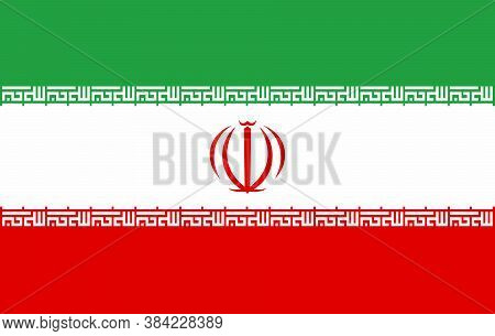 Vector Iran Flag, Iran Flag Illustration, Iran Flag Picture.