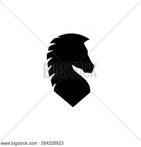 Icon Of Black Sign Chess Piece Horse. Vector Illustration Eps 10
