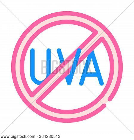 Uva Crossed Out Mark Color Icon Vector Illustration