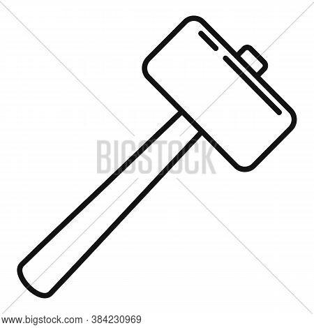 Tiler Sledge Hammer Icon. Outline Tiler Sledge Hammer Vector Icon For Web Design Isolated On White B
