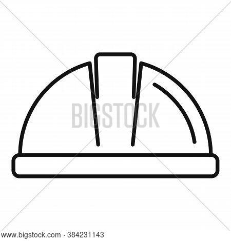 Tiler Helmet Icon. Outline Tiler Helmet Vector Icon For Web Design Isolated On White Background