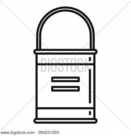Tiler Glue Bucket Icon. Outline Tiler Glue Bucket Vector Icon For Web Design Isolated On White Backg
